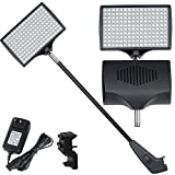 12W 160 LEDs High Efficient LED Light Fixture Bulb Count Adjustable Trade Show Pop Up Display Booth Exhibit Backdrop Panel Lighting w/ Power Adaptor