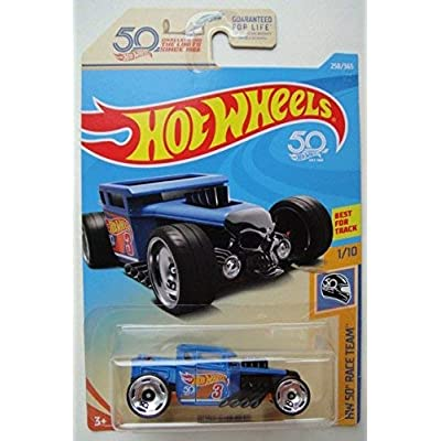 Hot Wheels HW 50 RACE TEAM 1/10, BLUE BONE SHAKER 258/365: Toys & Games