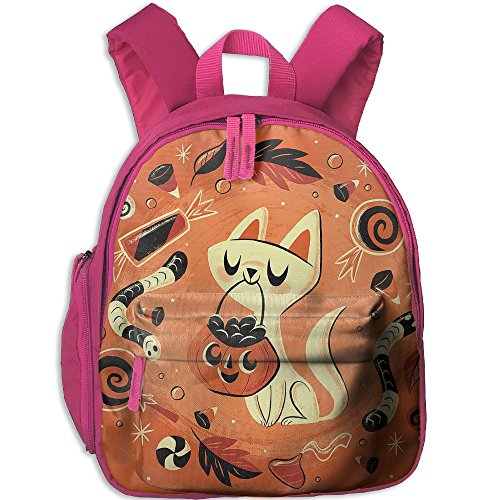 HUEH Outdoor Kitten's Halloween Candy Kids Snack Backpack School Book Bags Gift For Toodle Teen Boys (Halloween Snacks For Toddlers)