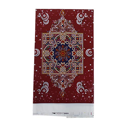 YUYUE 108180cm EID Mubarak Table Cloth Ramadan Decoration for Muslim EID  Party Supply