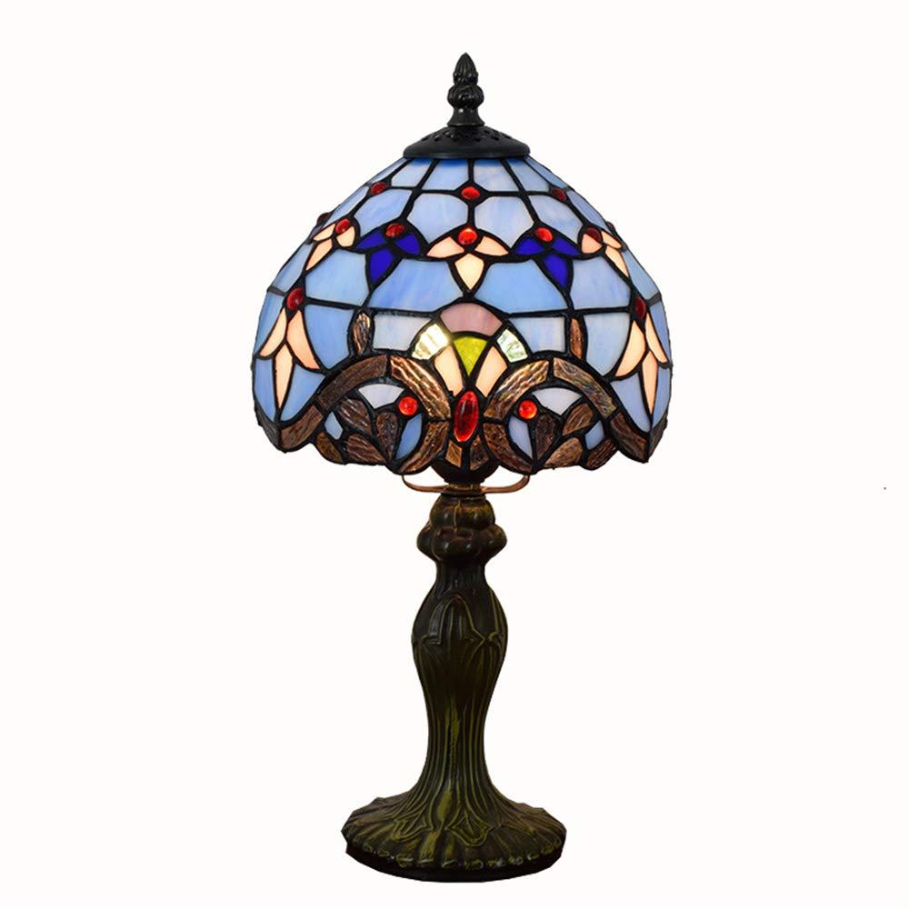 European American Minimalismus Glasmalerei 8 Zoll Tischlampen Legierungsbasis Tischlampe für Couchtisch Wohnzimmer Antiken Schreibtisch Nachttischl,A
