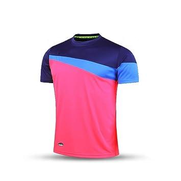 KELME Camiseta de fútbol de Manga Corta Equipo Traning Placa Uniforme, Hombre, Rose Red