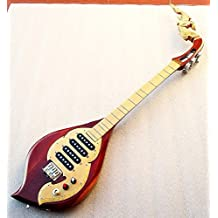 Isarn Electric Phin 3 Strings 4 Track, Thai Lao Guitar Musical Instrument, Traditional Thai Musical Pin 12