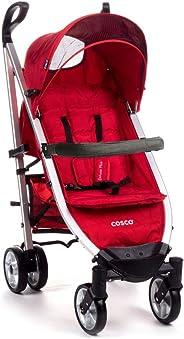 Carrinho de Bebê Umbrella Deluxe Plus com Barra Cosco - Vermelho (Tabasco)