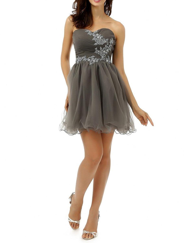 Charm Bridal Short Strapless Summer Bridesmaid Junior Girl Homecoming Dresses