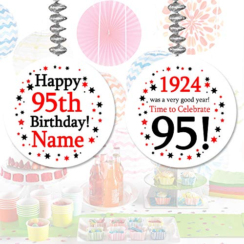 1924-95th Birthday Custom Dangler (3/Package) by Partypro