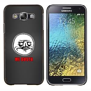 YiPhone /// Prima de resorte delgada de la cubierta del caso de Shell Armor - Me Gusta Cita español Cara escritura Hombre - Samsung Galaxy E5 E500