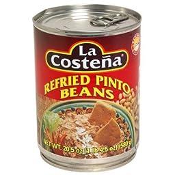 La Costena, Bean Refried Pinto, 20.5-Ounce (12 Pack) ( Value Bulk Multi-pack)