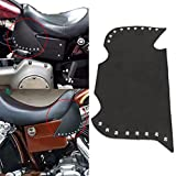 Jade Rivet Plain Leather Heat Shield Deflectors For Suzuki Kawasaki Yamaha Honda Victory