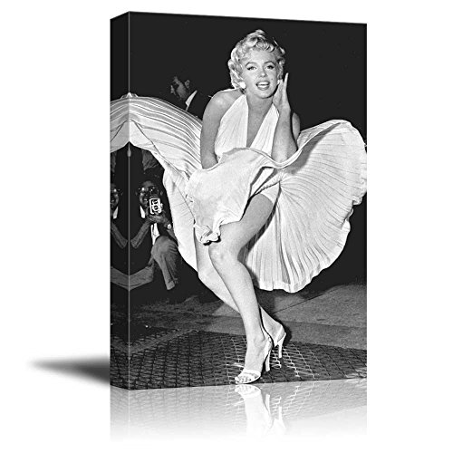 Portrait of Marilyn Monroe - Inspirational Famous People Series | Giclee Print Canvas Wall Art. Ready to Hang - 12