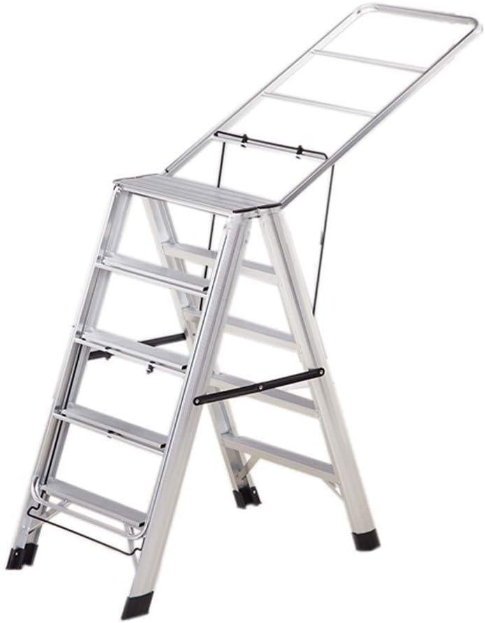 PANYUE Escalera Multifuncional De Doble Cara de Cinco Pasos de Escalera, Cubierta Multifuncional Escalera de Metal al Aire Libre Tendedero Escalera hogar Escalera Plegable Escalera Plegable casa: Amazon.es: Hogar