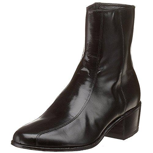 Florsheim Mens Duke Leather Closed Toe Mid-Calf Fashion Boots, Black, Size 11.5