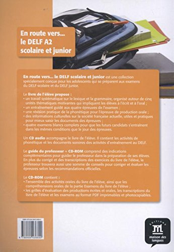 En route vers le DELF scolaire et junior A2 Libro del alumno + CD: livre de l'élève + CD (Fle- Texto Frances)
