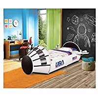 Vauxhall Metal Space Rocket Boys Twin Bed - White