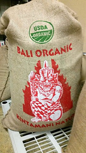 2.5 Lb Whole Beans (Bali Kintamani Natural, Organic Rain Forest Alliance, Whole Bean Coffee (Unroasted Green Beans, 2.5 Pounds Whole Beans))