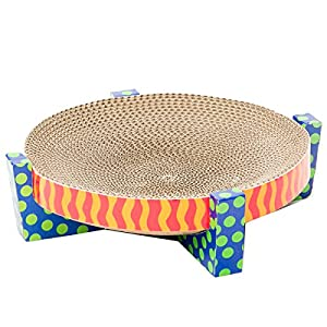 Petstages Easy Life Cat Scratcher and Hammock – Satisfies Kitty's Scratching Needs with Circular Scratchpad Ideal for a Snooze 48