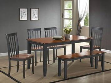 Amazon.com - Boraam 21035 Bloomington 6-Piece Dining Room Set ...