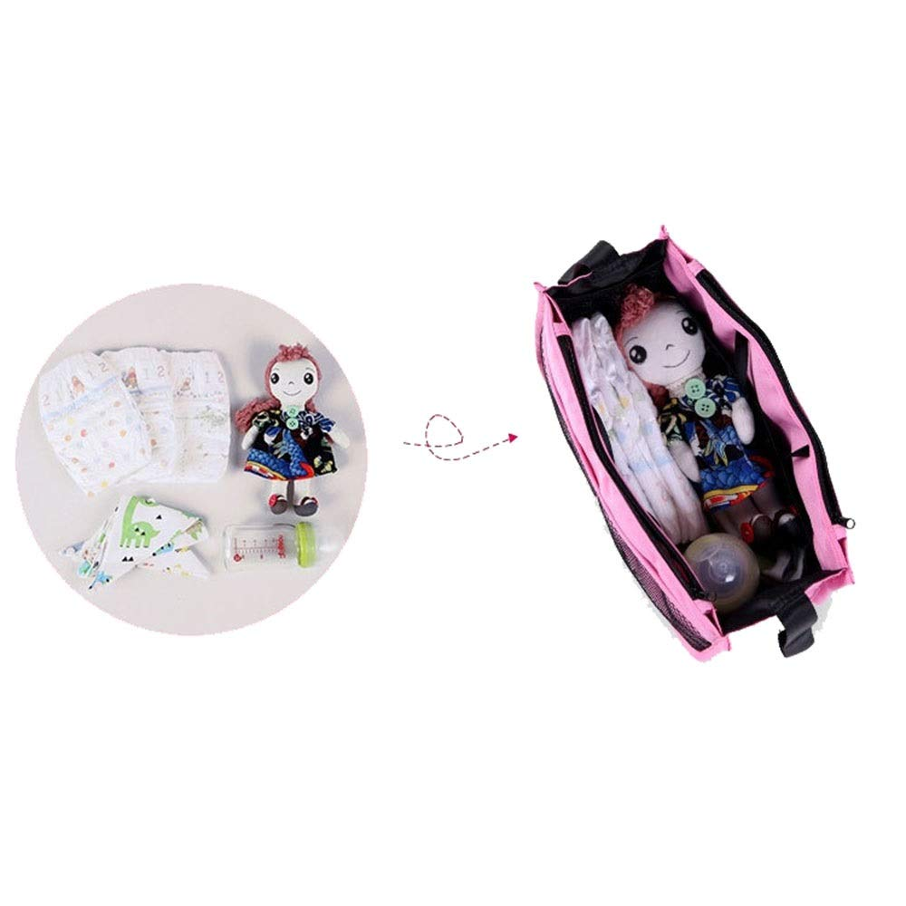 LORGDFDF Practical Multi-Function Baby Stroller Organizer Bag Cosmetic Bag for Women Lots of Space Light and Durable Pink is A (Color : Pink, Size : Free Size) by LORGDFDF (Image #3)