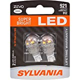 Image of SYLVANIA ZEVO 921 T-16 W16W White LED Bulb, (Contains 2 Bulbs)