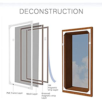 Adjustable DIY Magnetic Window Screen Max 55\