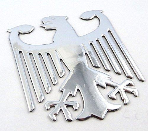 German Eagle - German Eagle Chrome finish decal emblem 3D sticker car bike 2.5