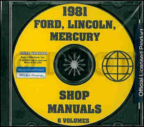 (1981 FORD FACTORY REPAIR SHOP & SERVICE MANUAL CD - INCLUDES Escort, Fairmont, Mustang, Granada, Ford LTD, Ford LTD Crown Victoria, Country Squire & Thunderbird 81)