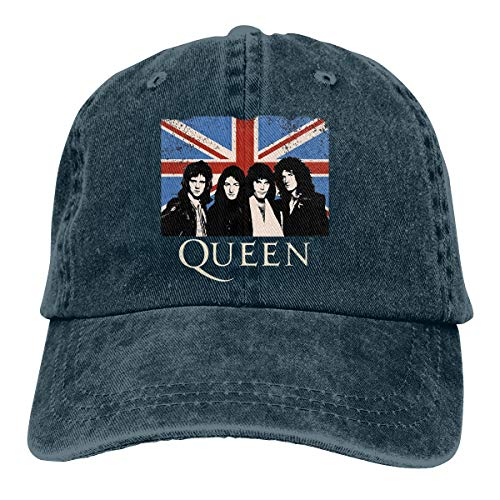 Queen Band Bohemian Rhapsody British Rock Band Unisex Personality Hat Adjustable Baseball Hat Navy