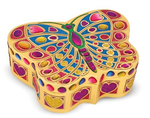 Melissa & Doug Peel & Press Sticker by Number - Butterfly Treasure Box Melissa & Doug Butterfly Jewelry