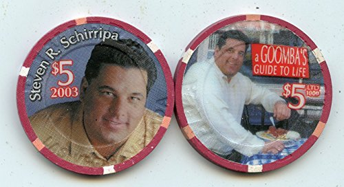 $5 Riviera Steven R Schirripa from Sopranos A Goomba's Guide to Life 2003 Old Obsolete Las Vegas Nevada Casino Chip Uncirculated Collectors Condition Chip Real Live chip ()
