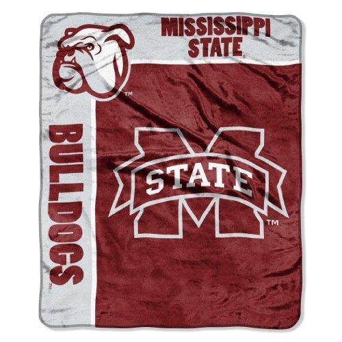 Officially Licensed NCAA Mississippi State Bulldogs School Spirit Plush Raschel Throw Blanket, 50