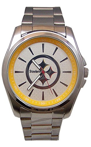 Pittsburgh Steelers Watch Avon Release Game Time SS Wristwatch Mens by Game Time
