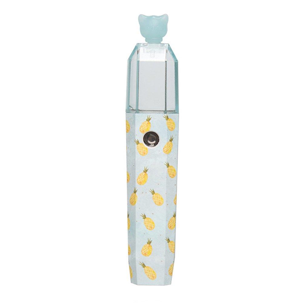 USB Air Humidifier Mini Portable Nano Hydrating Spray Outdoor Small Moisturizing FacialVaporizer Silent Cool Mist Humidifiers (Pineapple)
