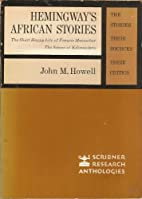 Hemingway's African Stories: The Stories,…