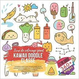 Kawaii Doodle Classe Livre De Coloriage Geant Croquis De
