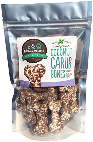 Cheap Minty Fresh Coconut Carob Bones Gourmet Organic and Vegan Dog Treats – Gluten Free, Grain Free