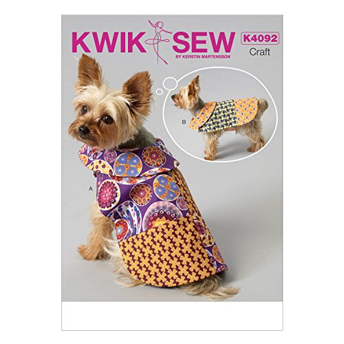 KWIK-SEW PATTERNS K4092 Pet Coats, All Sizes