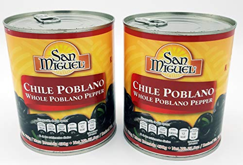 - San Miguel Whole Poblano Peppers 27.5 Ounces (2 Pack)