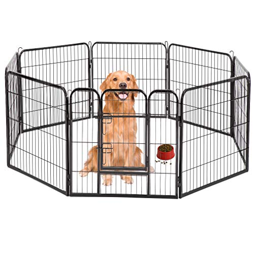 BestPet Hammertone Finish Heavy Duty Pet Playpen Dog Exercise Pen Cat Fence S, 40-Inch