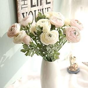 LySanSan - 10PCS Home Decoration European Rural Silk Artificial Tea Rose Camellia Bouquet Flowers Desktop for Wedding Party Decor 42