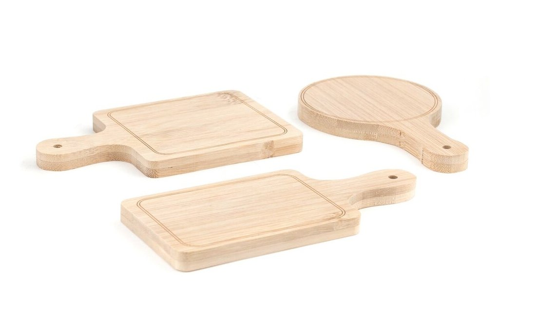 Kikkerland PM18 Serving Trays (Set of 6), Mini, Brown by Kikkerland