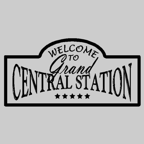 Station Grand (Welcome to grand central station....Entryway Wall Quotes Words Sayings Removable Vinyl Wall Lettering (12