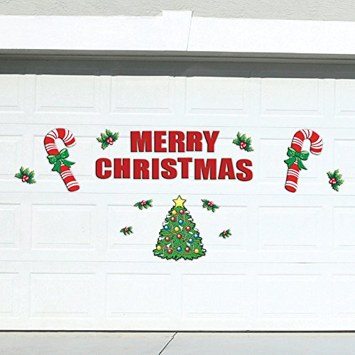 Festive Holiday Merry Christmas Garage Door Decoration 25 Piece Magnets Set ()