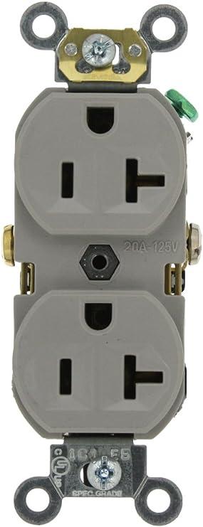 BOX OF 10 NEW Leviton BR20-W Duplex Receptacle 20A WHITE