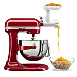 KitchenAid KL26M1BGER Professional 6 Quart Bowl Lift Stand Mixer with Food Grinder Attachment, Empire Red