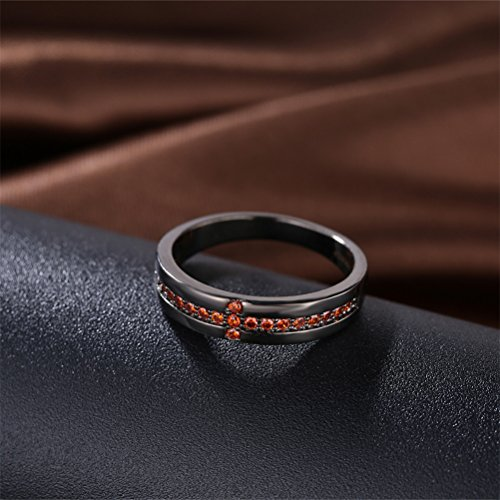 Black Infinity Love Knot Cross Christian Ring Wedding Band 18K Gold Plated Gift For Lover by Mrsrui (Image #2)