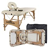 STRONGLITE Portable Massage Table Olympia - Double Knobs, Package w/ Adjustable Face Cradle, Face Pillow, Half Round Bolster, Microfiber Sheet Set & Carry Case (28x73')