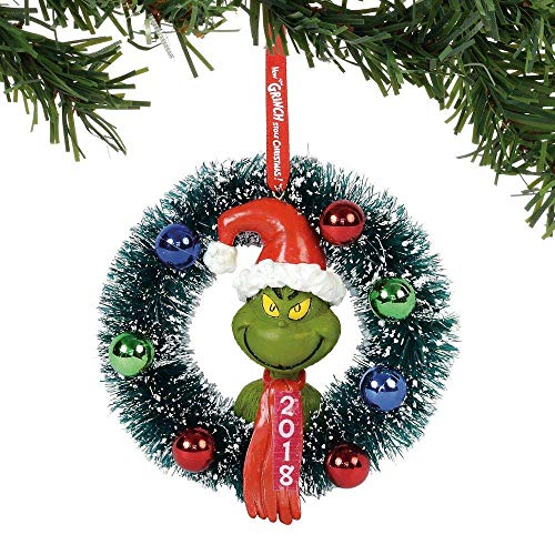 Department 56 Grinch 2018 Wreath Hanging Ornament 4