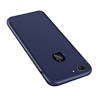 Qissy Carcasa iPhone 8plus 3 in 1 Todo Incluido Anti-Scratch Protective Plástico PC Cubierta Funda Bumper Case Cover para Apple iPhone 8 Plus 5.5