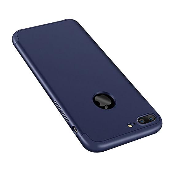 Qissy Carcasa iPhone 8plus 3 in 1 Todo Incluido Anti-Scratch Protective Plástico PC Cubierta Funda Bumper Case Cover para Apple iPhone 8 Plus 5.5