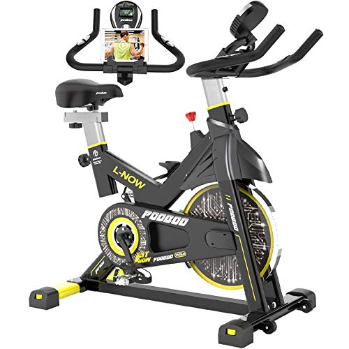 pooboo Indoor Cycling Bike, Belt Drive Indoor Exercise Bike,Stationary Bike LCD Display for Home Cardio Workout Bike…